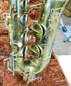 Vintage Buescher 400 Top Hat & Cane Tenor Saxophone in Original Hard Case