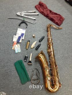 Vintage Buescher Aristocrat Tenor Saxophone with Case Stand & Accessories