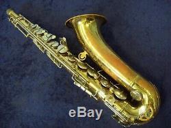 Vintage Conn 10m U. S. A. Pro Tenor Saxophone + Case Body Only-no Neck