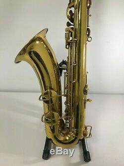Vintage Conn Pan American 60M Stencil Tenor Saxophone with Hamilton Stamp & Case
