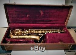 Vintage Conn Pan American Tenor Saxophone 1931 With Original Hard Shell Case