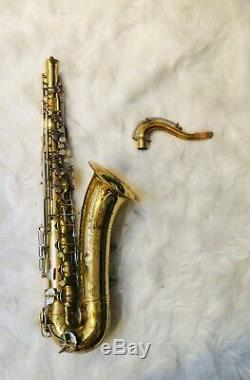 Vintage Conn Shooting Star Tenor Saxophone Sax Woodwind Instrument with Case