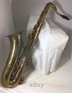 Vintage F. E. OLDS OPERA TENOR SAXOPHONE SERIAL # 4168 And Case