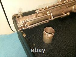 Vintage H. Bettoney Tenor Saxophone Made in USA With Case For Repair