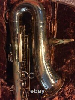 Vintage H. COUF SUPERBA 1 TENOR SAXOPHONE with org H. Couf Case