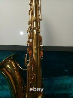 Vintage Hertz Tenor Saxophone Body And Original Hard Shell Case For Repair