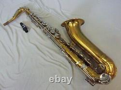 Vintage King Cleveland 615 U. S. A. Tenor Saxophone + Mouthpiece + Case