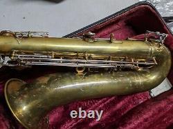 Vintage Linton Tenor Saxophone with case (serial # E5595)