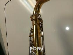 Vintage Pruefer Tenor Saxophone Italy With Original Hard Shell Case For Repair