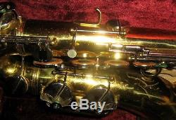Vintage Refurbished Martin Busine Tenor Saxophone with Case, Grassi, French, Italy