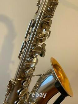 Vintage S/Plated AMATI Tenor Saxophone with B&S Mouthpiece and Case