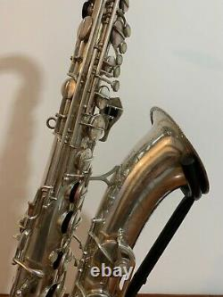 Vintage S/Plated Arta Guban'Luxor Solo' Tenor Saxophone with Mouthpiece and Case