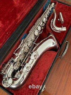 Vintage S/Plated Weltklang Tenor Saxophone with B&S Mouthpiece and Case