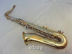 Vintage Tenor Saxophone Made In Italy + Case