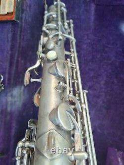 Vintage elkhart tenor saxophone complete in original case
