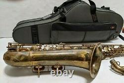 Vtg 1947 Conn 10M Naked Lady Tenor Saxophone PROTEC Padded Case 326XXX Elkhart
