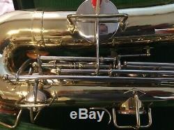 Vtg Wurlitzer American Tenor Saxophone witha Neck, Mouthpiece & Case Lo Pitch