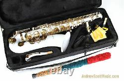 White Tenor Saxophone New in Case Masterpiece
