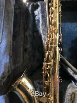 YAMAHA YTS-61 Tenor Saxophone Sax Tested Used WithHard Case