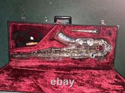 YAMAHA YTS-62S Tenor Sax Saxophone Silver Plated with Case