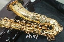 YAMAHA YTS-62 Tenor Saxophone Purple Logo with Hard Case