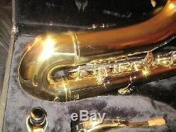 Yamaha YTS-23 Tenor Saxophone, Gold Lacquer, Case, Mouthpiece, Excellent Cond