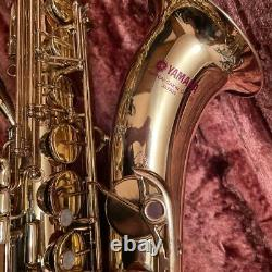 Yamaha YTS-32 Tenor Saxophone Purple Logo beauty Maintained With Case and goods