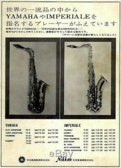 Yamaha YTS-61 YTS61 Tenor Sax Saxophone withHard Case From Japan Very Good